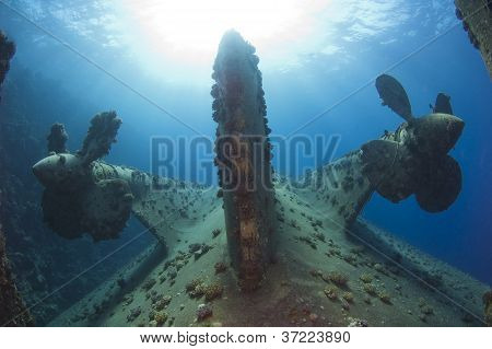 Propellers On A Shipwreck