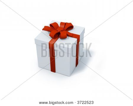 One White Present Box