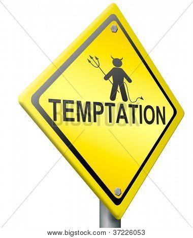temptation evil difficult tempting choice dangerous desire seduction by the devil