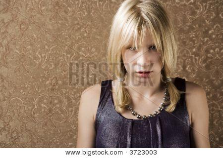 Pouting Teenage Girl