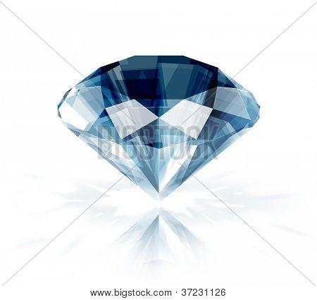 Diamond isolated on white -  realistic vector illustration