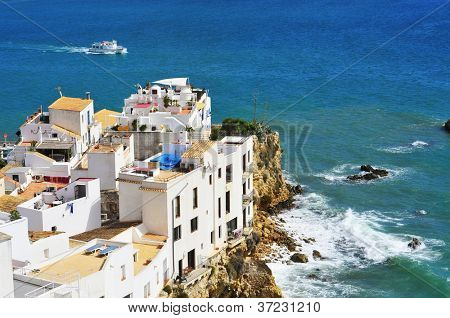 View of Sa Penya Distric in Ibiza Town, Balearic Islands, Spain