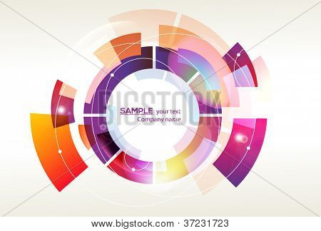 Trendy and stylish design - abstract background - original shape