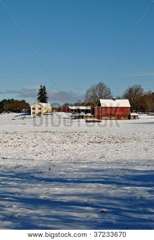 New England Wintery Barn