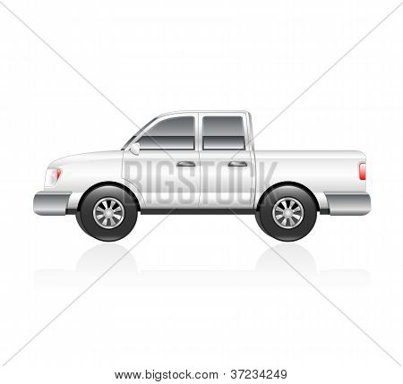 White Pick Up Truck