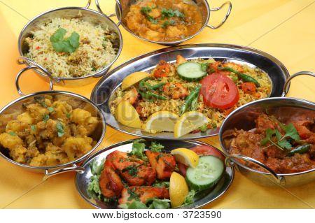 indischen Curry Mahlzeit