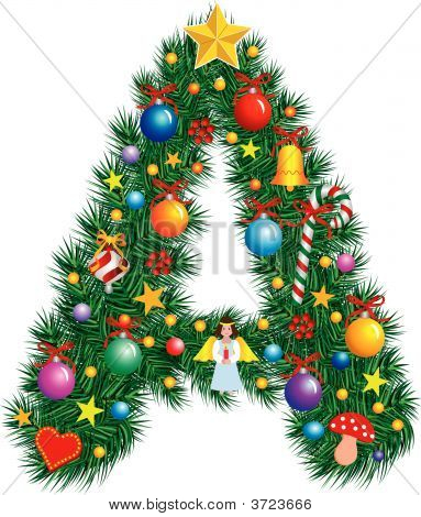 Alphabet Letter A - Christmas Decoration