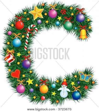 Alphabet Letter C - Christmas Decoration