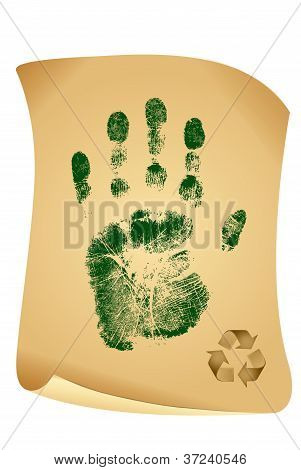 Green Handprint Ecology Concept