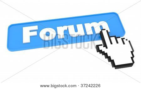 Blue Button with word Forum on it.