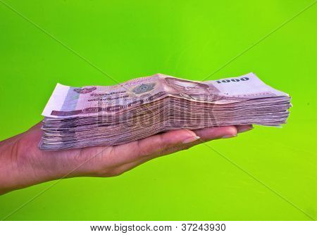 Money In Woman Hands