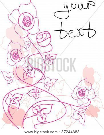 The floral background in a vector