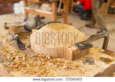 Artisan wood work handicraft