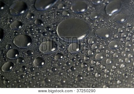 Water Beads In Dark Back