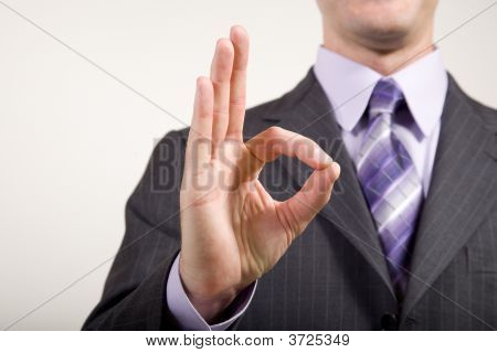 Business Man Gestures Ok