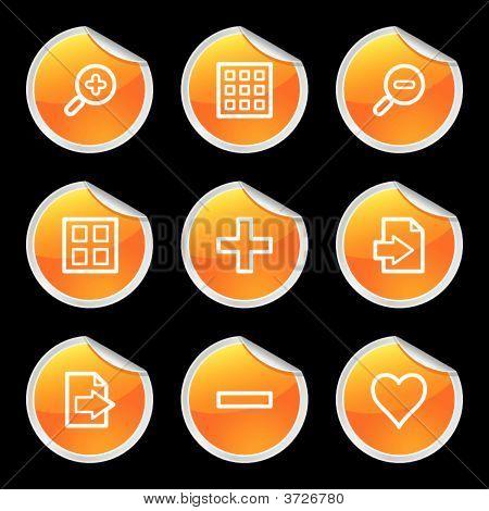 Image Viewer Icons Orange Circle Sticker Series