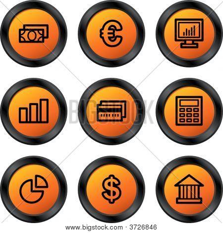 Finance Icons Orange Circle Series
