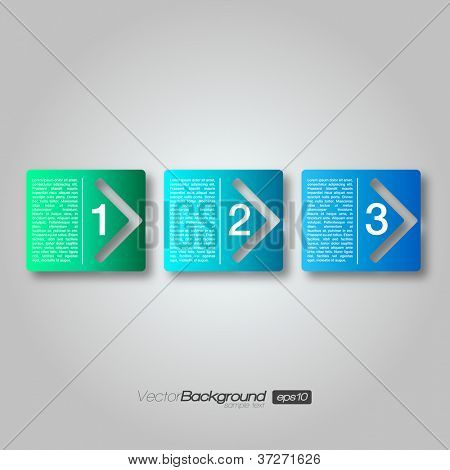 Next Step Arrow Boxes | EPS10 Vector Design