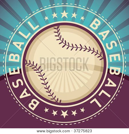 Baseball poster. Vector illustration.