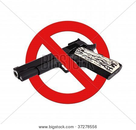 Sign Prohibiting Gun