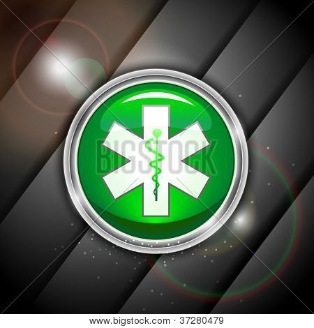 Abstract medical background with 3D caduceus medical symbol. EPS 10.