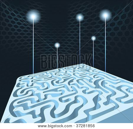 3D Maze With Rockets