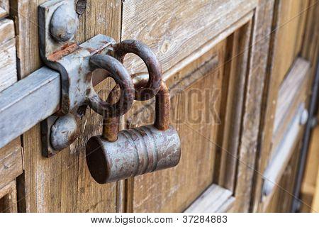 Old Padlock On The Door