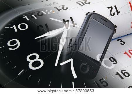 Smart Phone, Calendar And Clock