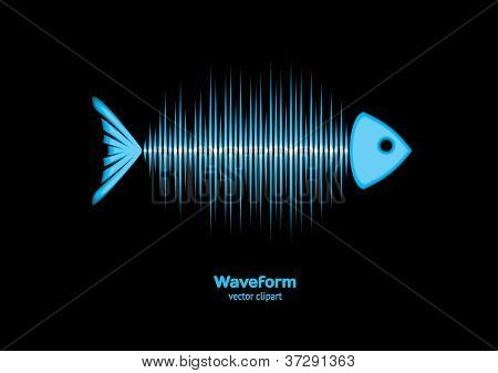 Sonar Waveform Fish