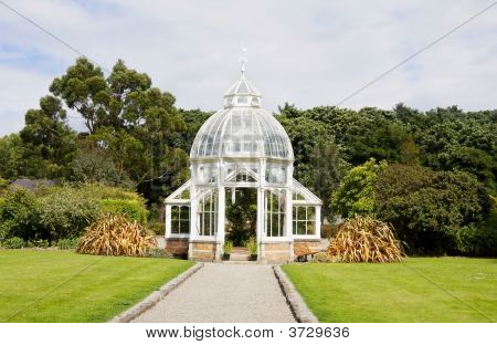 Greenhouse In The Garden - Front View