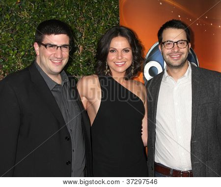LOS ANGELES - SEP 28:  Adam horowitz, Lana Parrilla, Edward Kitsis arrives at the ABC Sunday Night Event at Lexington Social Club on September 28, 2012 in Los Angeles, CA