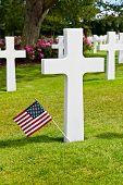 Постер, плакат: Американские войны кладбище на Омаха Бич Нормандия Кольвиль сюр мер