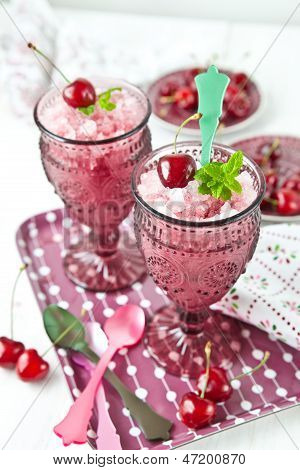 Cold Sorbet With Cherries