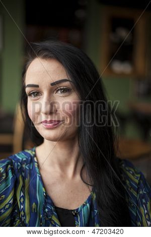 Beautiful Young Woman With Very Cute Smile