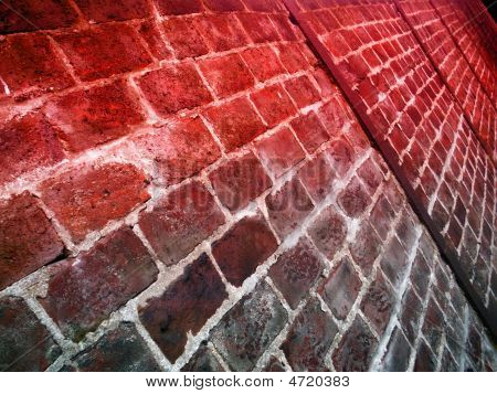 Brick Wall / Fence With Converging Lines
