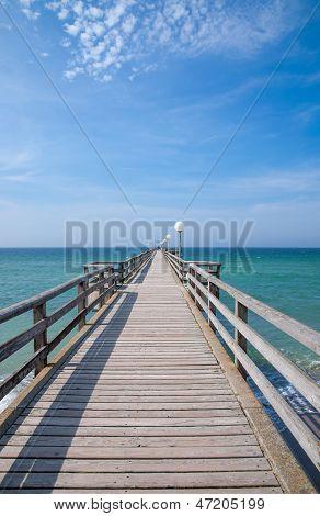 Pier of Kuehlungsborn,baltic Sea,Germany