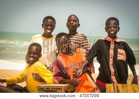 Smiling Children In Senegal, Africa