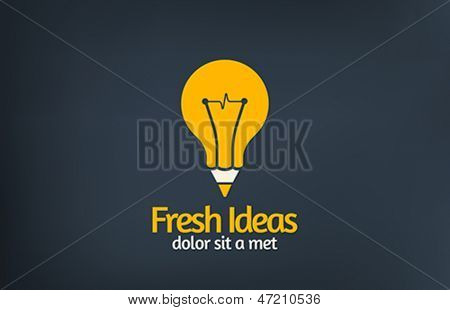 Fresh idea art design concept logo template vector. Creative thinking.