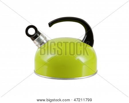 Green Kettle Isolated