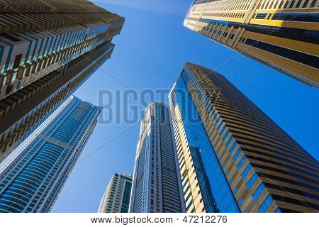 High Rise Buildings And Streets In Dubai, Uae
