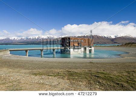 Lake Pukaki, hydro power station, New Zealand