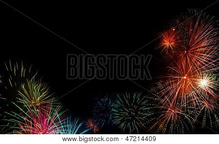 Festive Fireworks Display