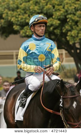 Jockey Garrett Gomez Aboard Pioneer Of The Nile