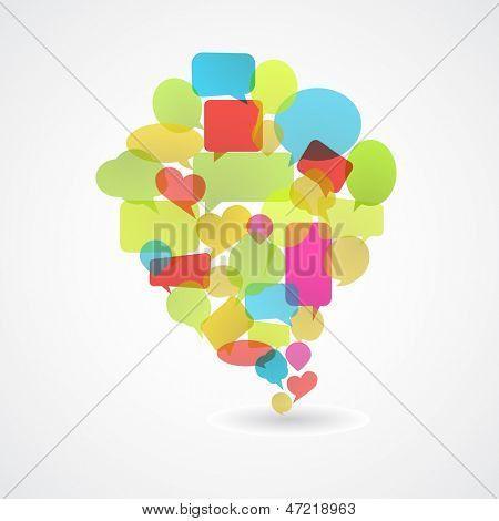 bobble speech abstract background