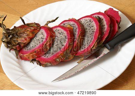 Sliced Dragonfruit