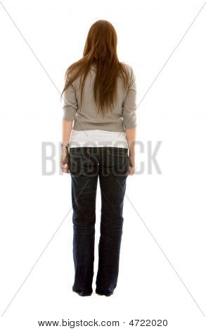 Fullbody Woman Back