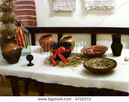 Dishes From The Clay In The Museum.