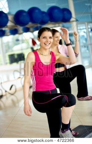 Women At A Aerobics Class