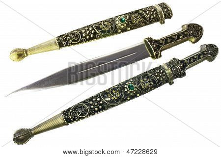 Decorative Dagger In A Sheath