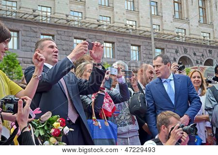 Kiev, Ukraine - May 25: Celebration Of 100Th Anniversary Of 1St Russian Olympiad  In Kiev, Ukraine O